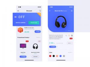 Discount App 2 screens