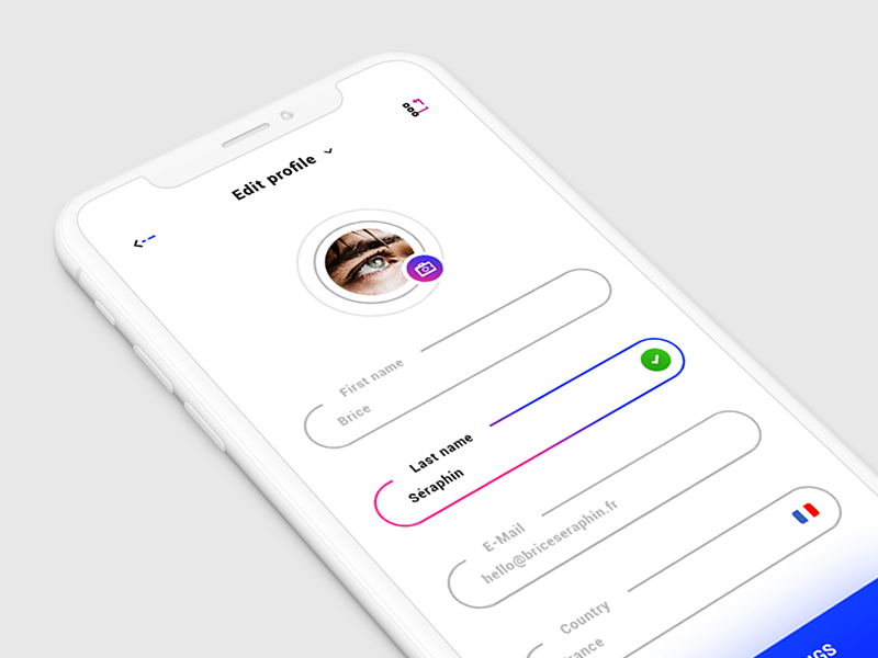 Edit Profile App Design