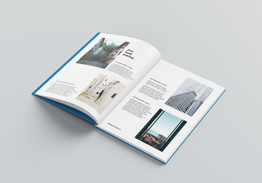 A4 Hardcover book mockup