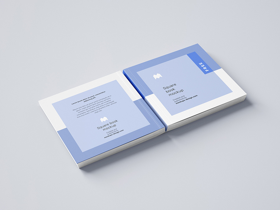Square Book Mockup PSD