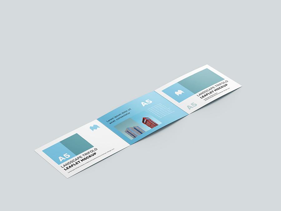 A5 Tri-Fold Brochure Mockup PSD
