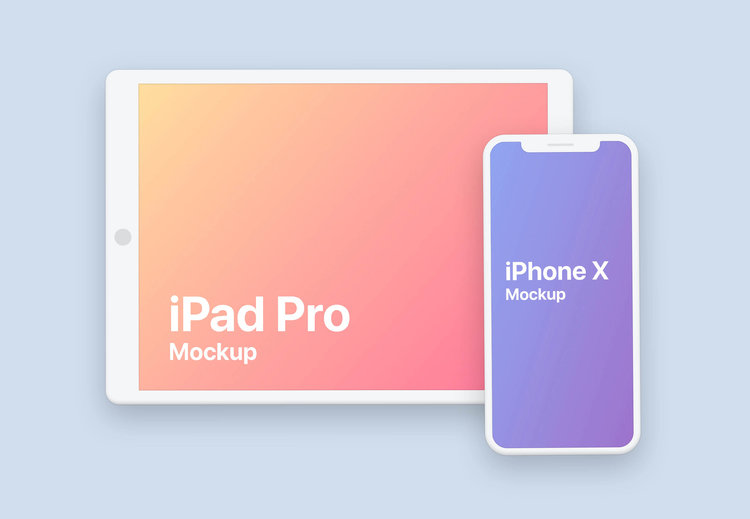 Clay iPhone iPad Pro Design Mockup - PSD Stash