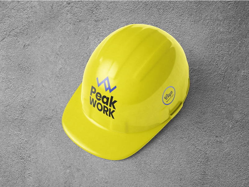 Construction Safety Helmet Mockup PSD