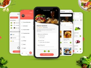 Fresh Food UI Concept Design PSD