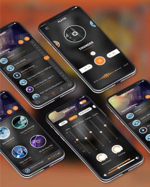 Music design app ui concept PSD