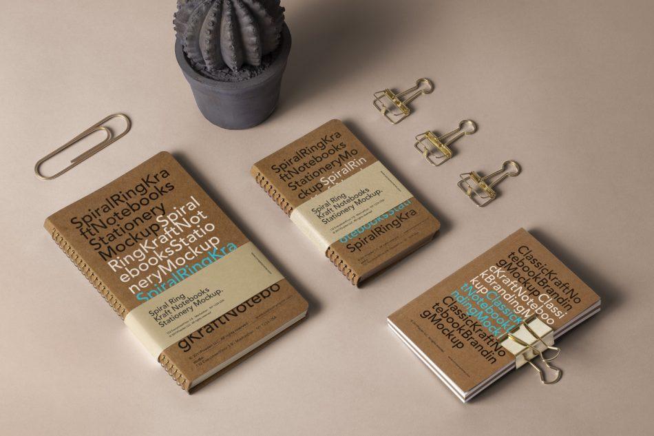Spiral Ring Psd Notebook Mockup