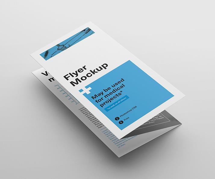 Tri-Fold Flyer Mockup