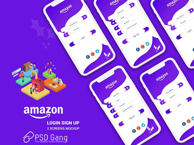 login app ui concept design PSD