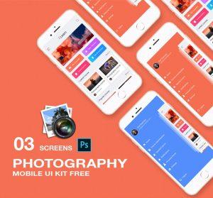 photography app ui concept PSD