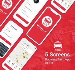 Taxi Booking App UI KIT PSD