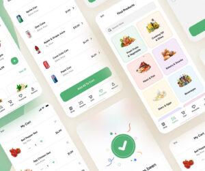 Free Figma Online Groceries App 20 Screens