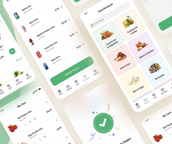 Free Figma Online Groceries App 20 Screens