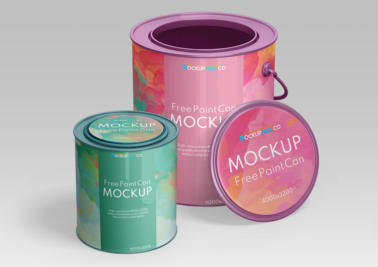 Free Paint Can Mockup in PSD