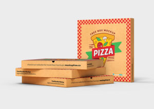 Free Pizza Box Mockup in PSD