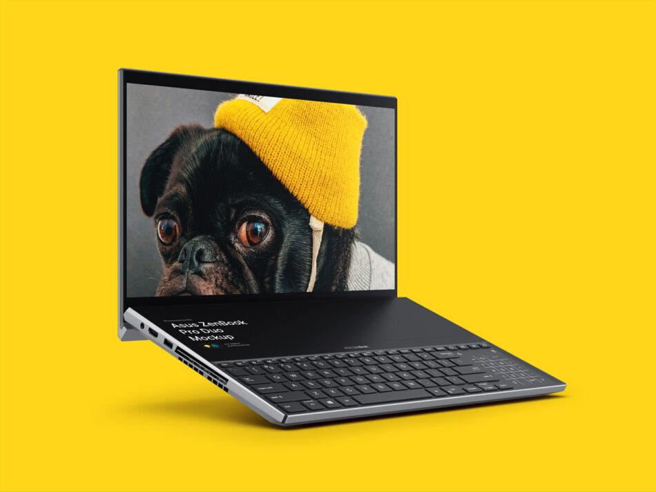 Free ZenBook Pro Duo Mockup