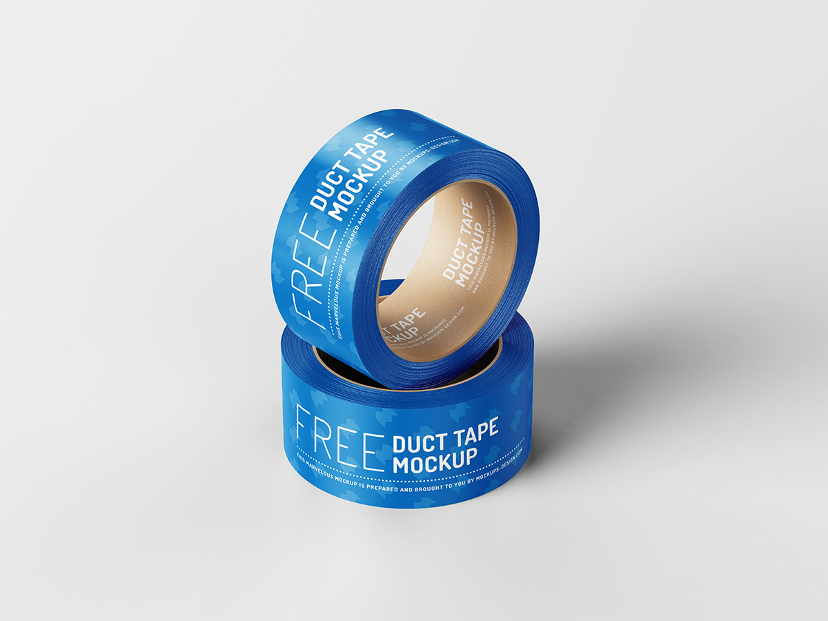 Free duct tape mockup
