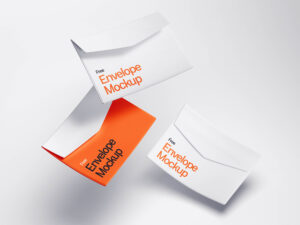 Levitating Envelope Mockup