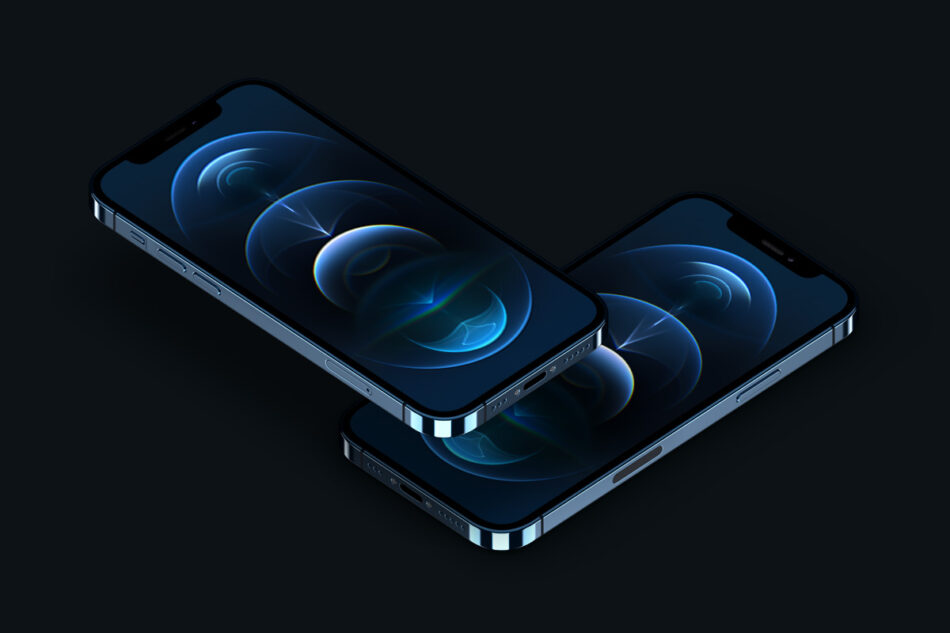 Perspective Psd Iphone 12 Pro Mockup Set