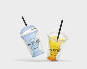 Plastic Juice Cup Mockup