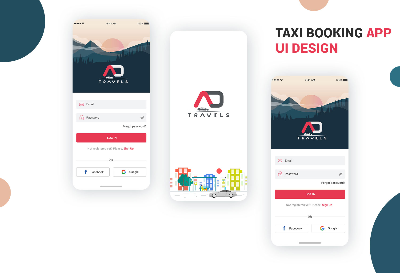 Travel Taxi Booking App Ui design