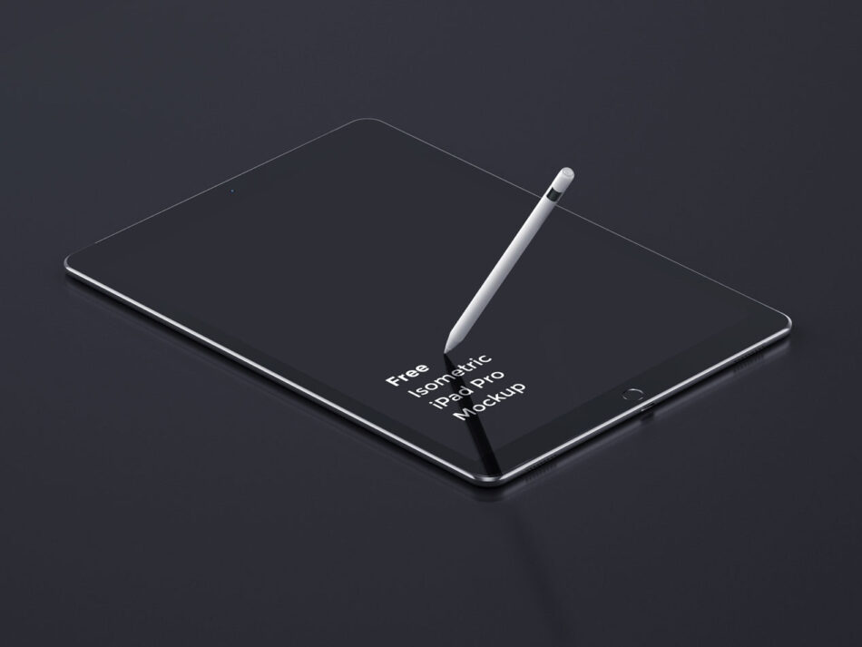 iPad Pro pencil mockup