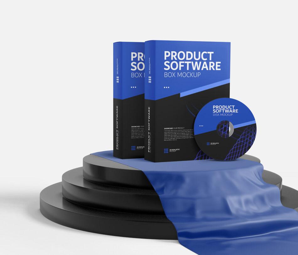 Software Product - Box Mockup
