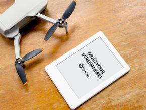 Amazon Kindle with drone Mavic Mini 2
