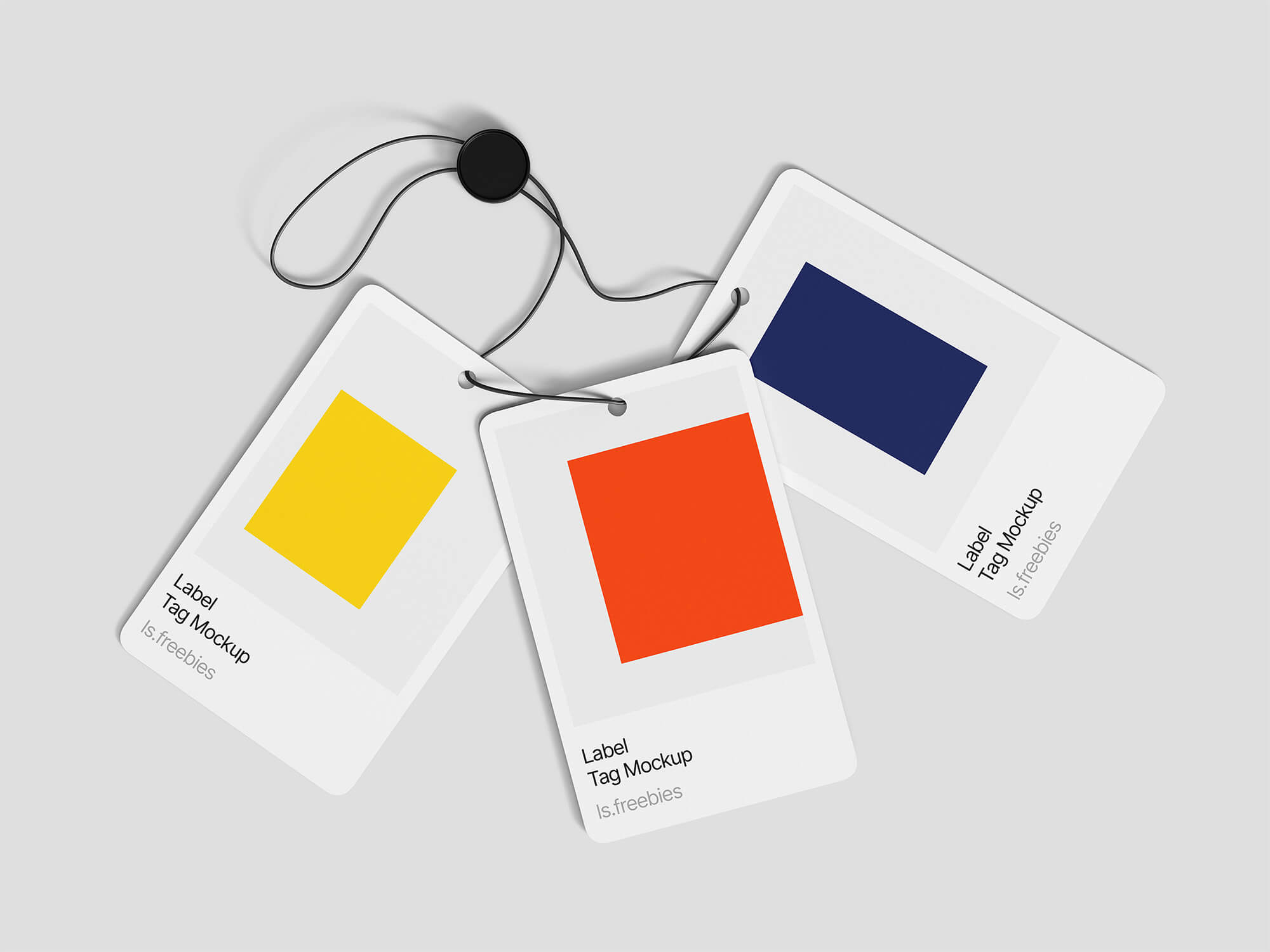 3 Label Tag Mockups