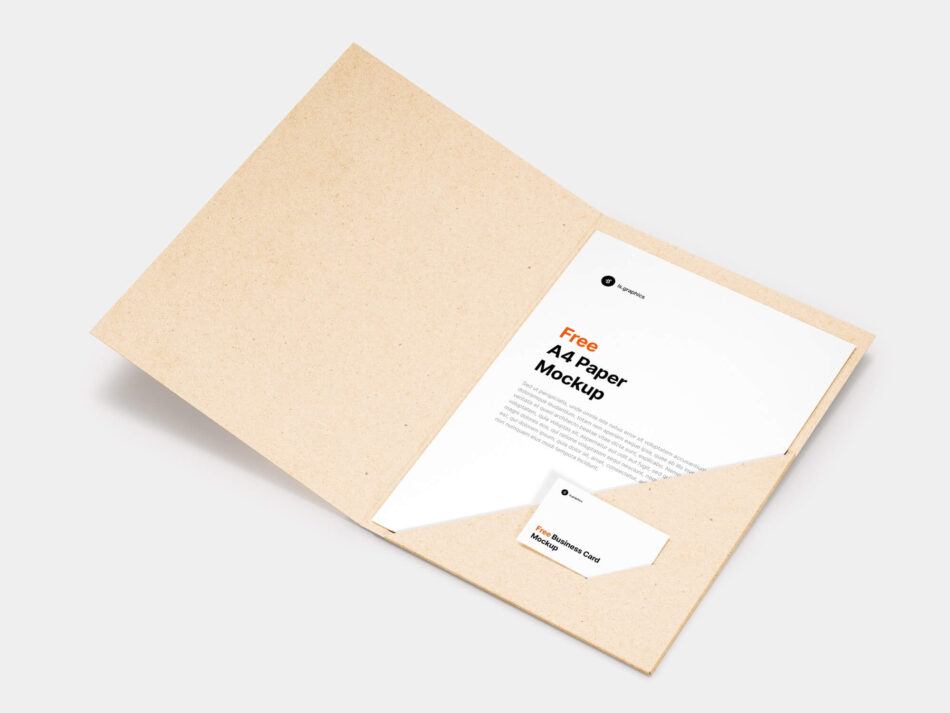 A4 Paper & Business Card Mockup