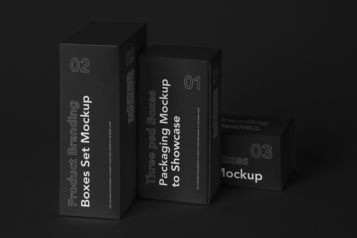 Box Psd Mockup Product Branding Set