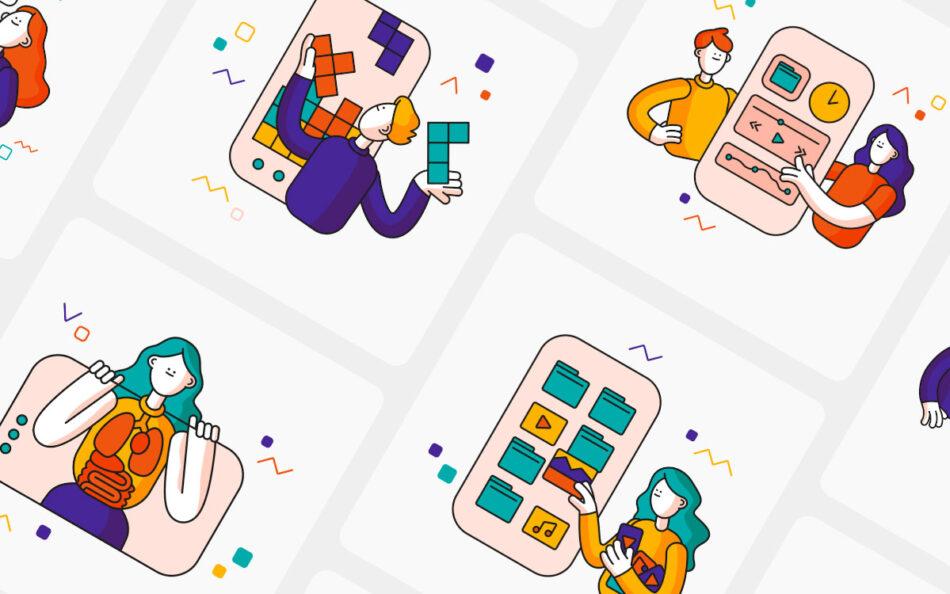 Clusck 2.0! UI Illustration Kit