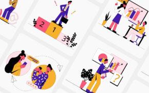 Knock! Illustration Kit
