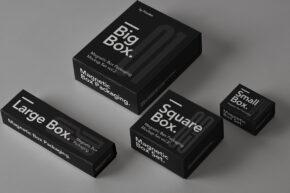 Magnetic Psd Box Packaging Mockup Set 2