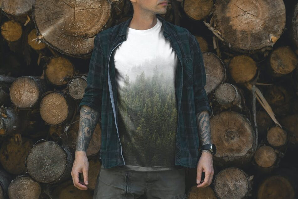 Free Outdoor T-Shirt Mockup