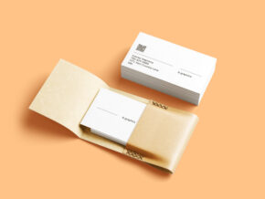 Business Cards & Leather Card Holder