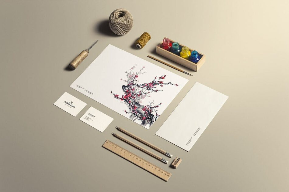 Art and Craft Free Branding Mockup