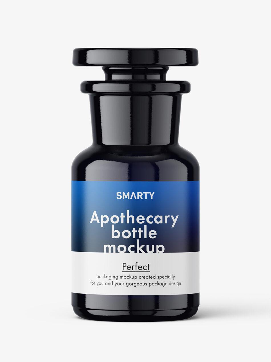 Bio photonic apothecary bottle mockup