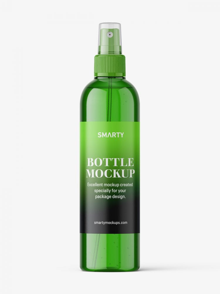 Cosmetic bottle with mist spray mockup
