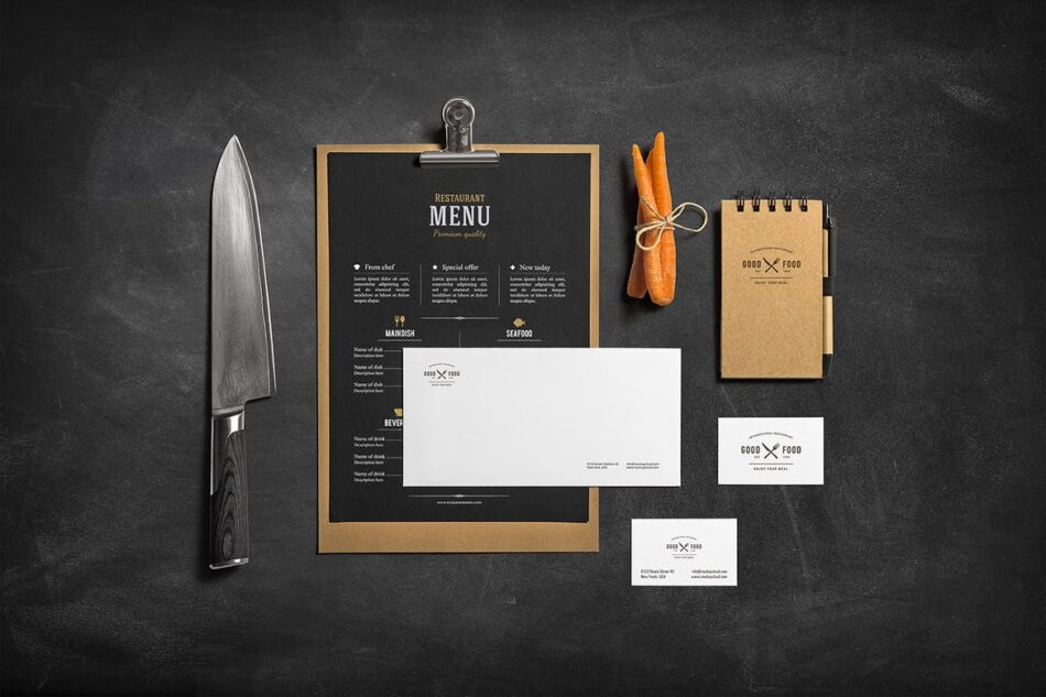 Restaurant and Bar Branding Mockup